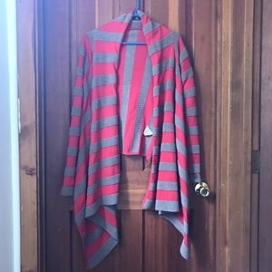 Neve Striped Wrap Cardigan Sweater
